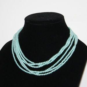 Vintage blue pearl necklace (x3)